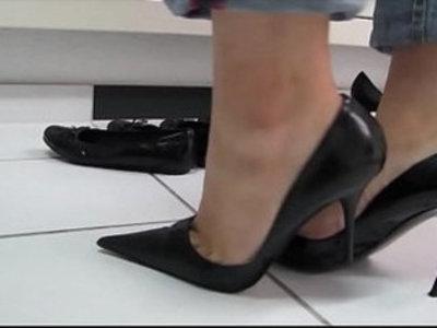 Black Sexy High Heels Shoeplay | black  high heels  sexy girls