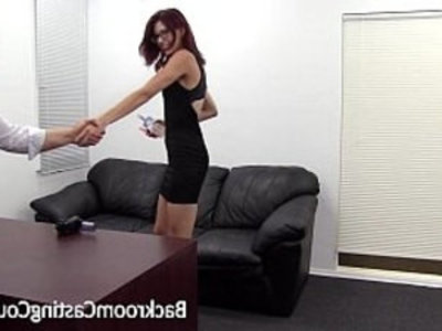 Slave Christy Chokes Herself To Anal Orgasm | agent   anal   ass fucking   bdsm   casting   couch   glasses   orgasm   pov   slave