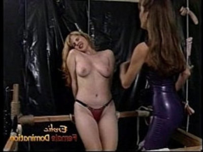 Raunchy blonde amateur teen amateur slut with big tits gets whipped hard by a dominatrix | baby   bdsm   big tits   blonde   bondage   brunette   domination   hairy pussy   hardcore   latex