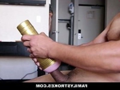 FamilyStrokes Horny Sister Fucks With A Fleshlight | big booty  blonde  cowgirls  cumshots  doggy  family taboo  hardcore  horny girls  huge cocks  sister