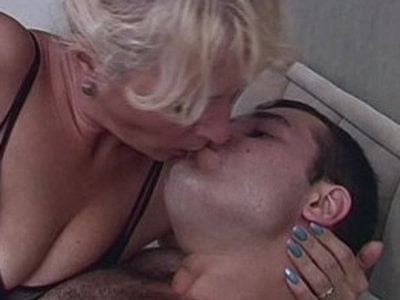Horny Blonde Taking Stepsons Cock For Breakfast | blonde   cock   horny girls   son and mom   stepmom   stepson