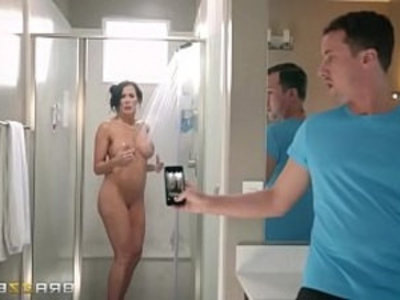 Step son catches Reagan Foxx in the shower | amateur   ass   hardcore   mouth fuck   pussy   shower   son and mom   sperm   stepfamily