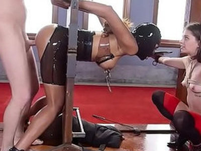 Sex toy and gag ball in bdsm training | bdsm   gagging   sex toys   training