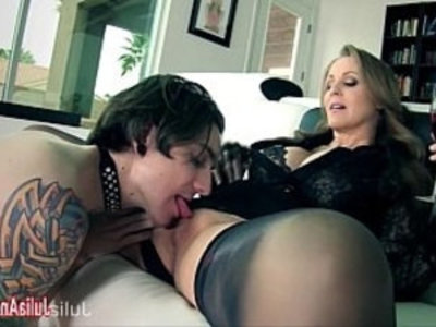 Julia Ann Demands Her Boy Toy to Service Her! | boy  femdom  leather  milf  sex toys  son and mom  tits  worship