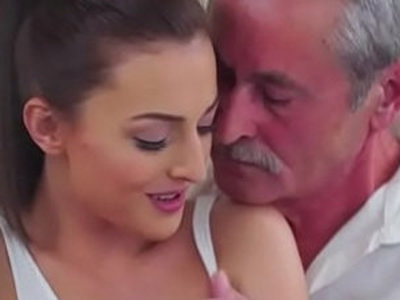 Czech Katy Rose sucks off and old guy before riding cock | cock  cock sucking  czech girls  old and young  riding cock  young