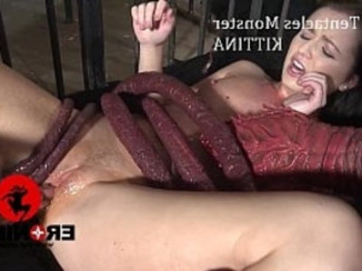 The Tentacles Monster Kittina Ivory | anime  blowjob  creampies  cumshots  handjob  hardcore  hentai  rough sex  sperm  wet pussy