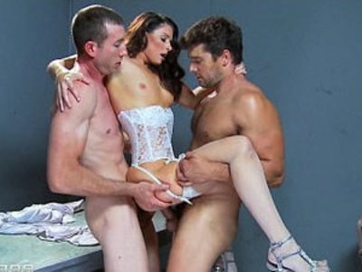 Busty and slutty brunette India Summer is gangbanged by two cops | brunette  busty  gangbang  girls  indian girls  sluts