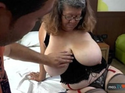 Agedlove granny with tits banged | banged  big tits  chubby girls  doggy  gilf  mature  old and young  young