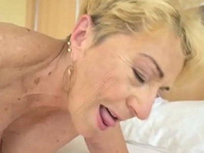 Old woman Malya still needs a good style fuck | doggy   old and young   woman   young