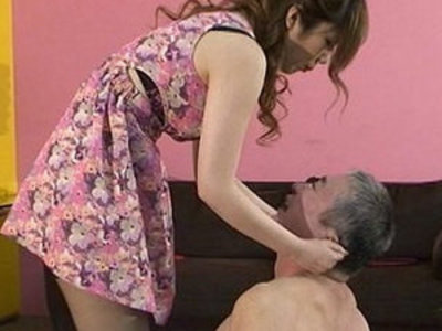 Japanese strapon mistress spits on slaves and makes slaves get foods stepped on boots | japanese girls   mistress   strap on