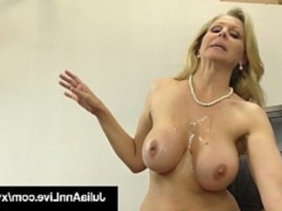Dick Sucking Cougar Julia Ann Sucks and Strokes Cock!   blonde  blowjob  cock  cock sucking  cougars  cowgirls  cumshots  dick  fetish  footjob