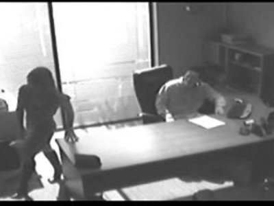 Office Tryst Gets Caught On CCTV And Leaked | blowjob  brunette  caught  girlfriend  hardcore  homemade  office  oral sex