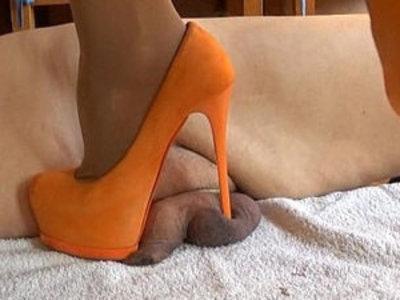 Miss Katarina extreme orange high heels cm savagery | extreme  high heels