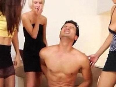 Fetish dominas tease femdom victim | femdom  fetish  teasing