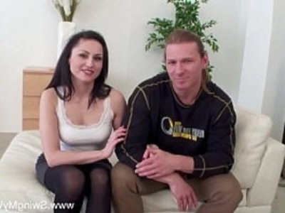 Wife Agrees To Sex With Stranger | 3some  amateur  blowjob  cheating wife  cuckold  cumshots  doggy  facials  group sex  housewife