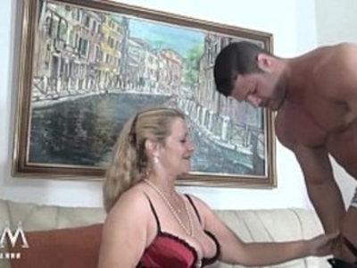 MMV FILMS Sexy Granny tries fresh jock meat | amateur  blonde  blowjob  couple  cumshots  doggy  german girls  gilf  handjob  mature