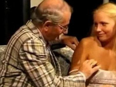 Teeny fucked by horny grandpa   grandpa  horny girls