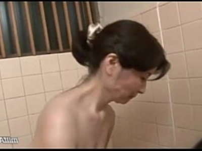 Mature Woman Washing Young Body Sucking and riding Cock In The Bathroom | asian girls  bathroom  cock  cock sucking  mature  milf  mommy  sex toys  wife  woman