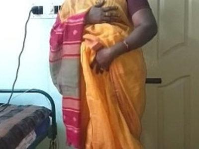 desi indian horny tamil telugu kannada malayalam hindi cheating slut wife vanitha wearing orange colour saree showing boobs and shaved pussy press ha | aunty  boobs  cheating wife  desi girls  fingering  homemade  horny girls  indian girls  massage  masturbation