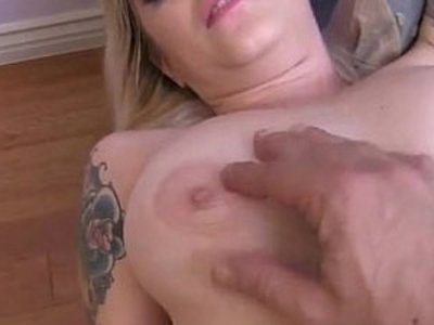 Shaved blonde Nicole Malice gets a messy facial POV | blonde  facials  pov  shaved pussy  tattoo