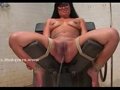 Asian girl gets fucked with a toy | anal  asian girls  ass  big booty  dildo  girls  school girls  sex machine  sex toys  solo