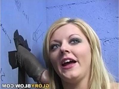 Sophie Dee Sucks BBC Gloryhole | black cock  cock sucking  gloryhole  huge cocks  interracial