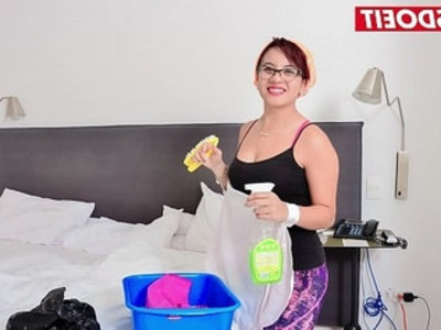 Thick latina maid gets some black dick on her first day | black cock  colombian girls  cumshots  dick  dirty  first time  huge cocks  interracial  latin girls  maid