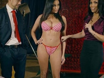 Live shopping channel show turns into a threesome fuck   3some