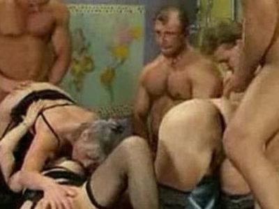 Granny Group hardfucking | gilf  group sex