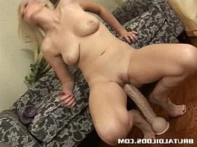 Armani stretches her wet pussy with a massive dildo | blonde   brutal   dildo   fisting   insertion   masturbation   sex toys   solo   wet pussy