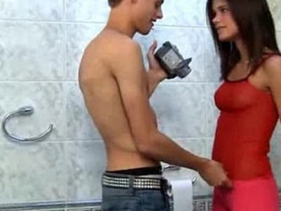 Little caprice caught guy pissing and fucks on camera right in the toilet room | caught  pissing  toilet