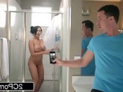 Step Son Catches Reagan Foxx In The Shower | boobs  busty  cheating wife  cougars  doggy  hardcore  huge boobs  mature  milf  pussy