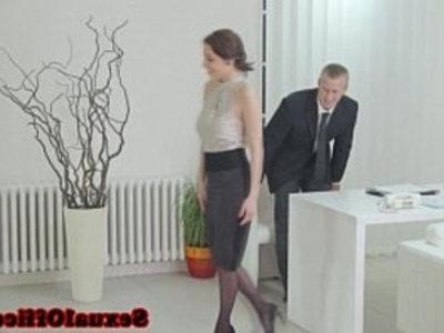 Antonia Sainz sucking his dick in the office | big tits  blowjob  cock sucking  dick  doggy  facials  handjob  lingerie  office  stockings