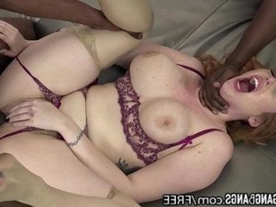 Lauren phillips bbc gangbang stuffed in all holes | anal  ass  black cock  curvy girls  double penetration  gangbang  high heels  interracial  lingerie  masturbation