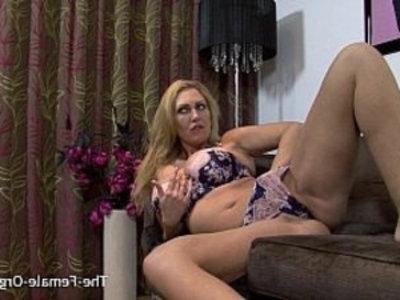 Big Breasted MILF Masturbating Her Meaty Pussy to Orgasm   breasts  british girls  clits  lingerie  masturbation  milf  orgasm  pussy  vibrator