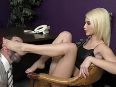 Brat Corporate Takeover Kiara Cole Femdom | ass worship   blonde   facesitting   femdom   slave